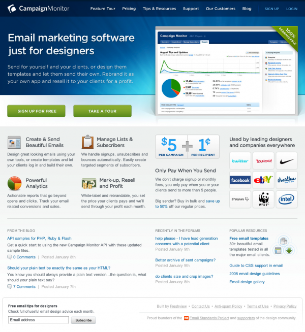 100% Rebrandable email marketing software just for designers - Campaign Monitor