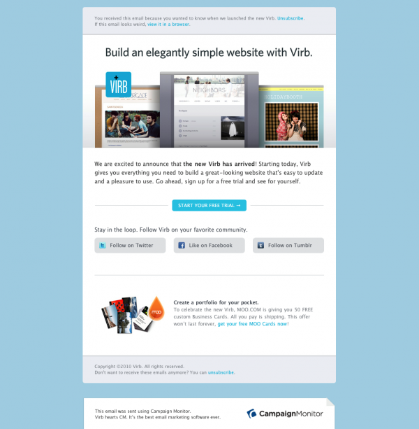 Build an elegantly simple website with Virb