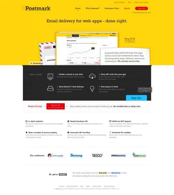 Postmark – Email delivery for web apps