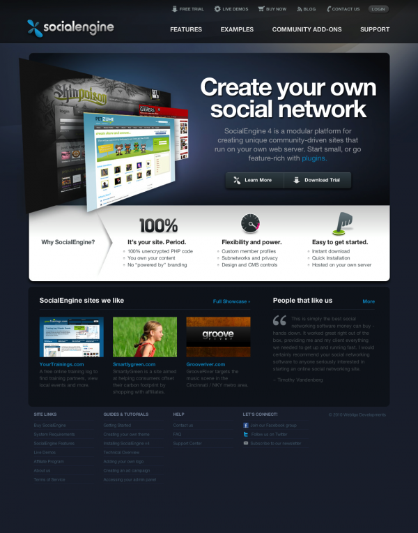 social networking sites templates php - reedadoubpi socialengine php social network script