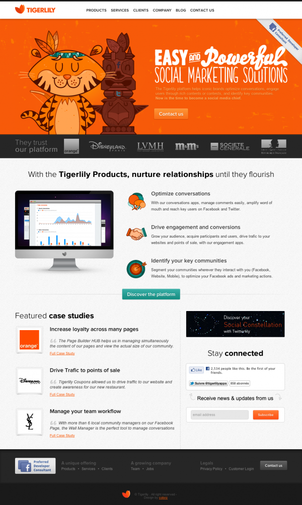 Tigerlily, Easy and Powerful Social Marketing Solutions